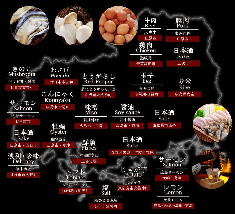 広島食材MAP