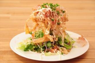 カリカリごぼうの生野菜サラダ